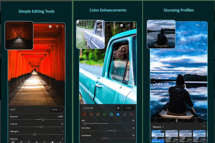 Features of Lightroom Pro APK