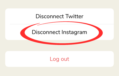 disconnect instagram profile from clubhouse app step-2