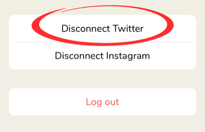 disconnect twitter profile from clubhouse