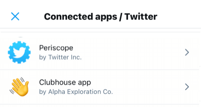 revoke access to clubhouse from twitter step-4